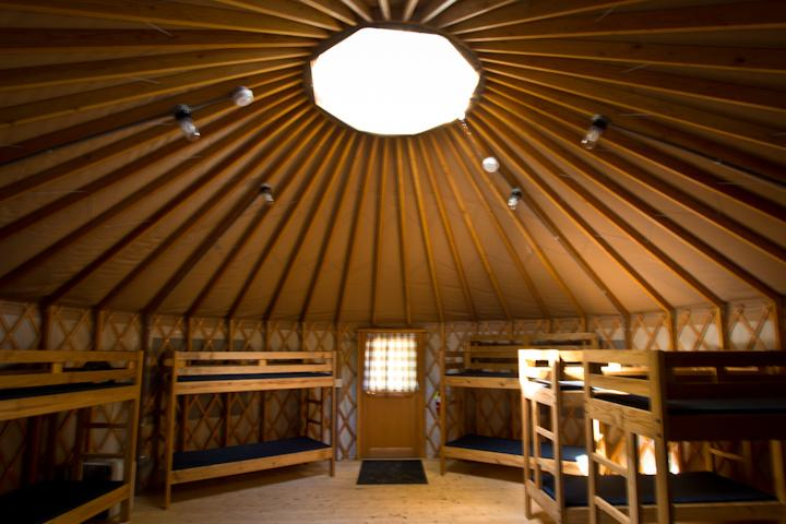 Yurt inside view