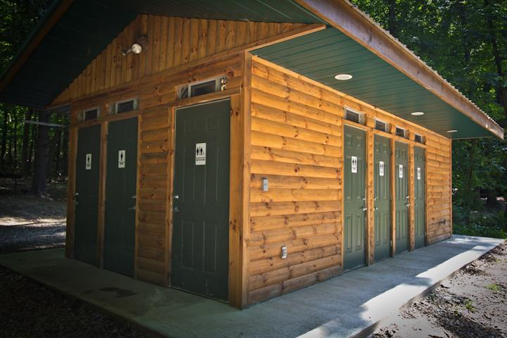 Outpost rustic camping restrooms bathhouse