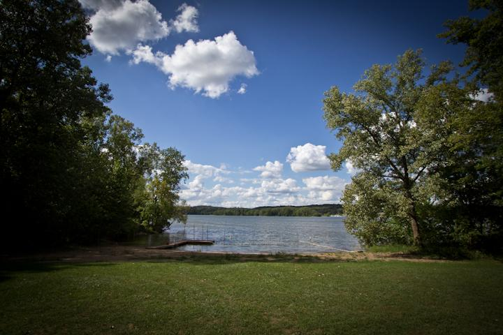 beach at pleasant hill lake